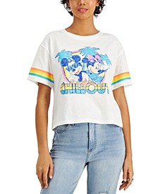 Juniors' Mickey and Minnie Mouse Chill Out-Graphic T-Shirt