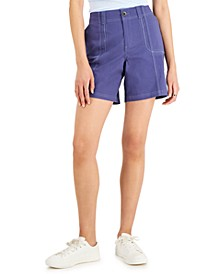Petite Comfort-Waist Cargo Shorts, Created for Macy's