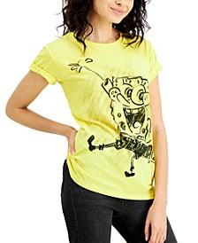 Juniors' SpongeBob SquarePants Sketch Graphic Boyfriend T-Shirt