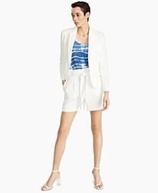 One-Button Blazer, Tie Dye Camisole, Tie Waist Shorts & Blakke Dress Sandals, Created for Macy's