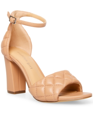 Blend-q Quilted Two-Piece Block-Heel Sandals