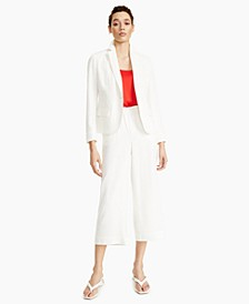 Blazer, Camisole, Wide-Leg Pants & Thong Ball-Heel Sandals, Created for Macy's