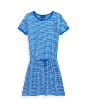 Polo Ralph Lauren Cottons BIG GIRLS STRIPED COTTON JERSEY T-SHIRT DRESS