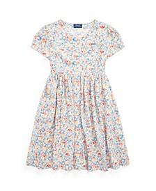 Big Girls Floral Empire-Waist Dress