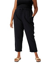 Trendy Plus Size Beach Pull On Pants