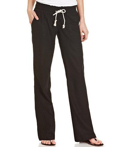 Roxy Juniors Oceanside Wide Leg Drawstring Pants