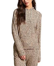 Juniors' Cheetah-Print Hoodie