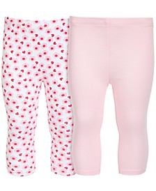 Baby Girls 2-Pc. Cotton Leggings Set, Created for Macy's