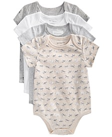 Baby Boys & Girls Safari Cotton Bodysuits Set, Created for Macy's