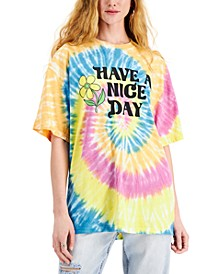 Juniors' Have A Nice Day Graphic-Print T-Shirt