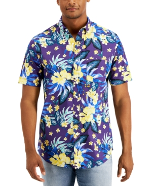 Men's Tropical Party Short Sleeve Shirt
