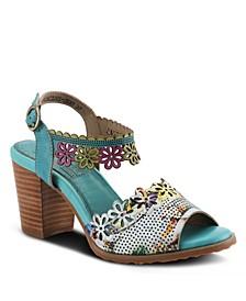 L'Artiste Women's Floradacious Quarter Strap Sandals