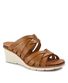 Bonnita Strappy Wedge Sandal Slides