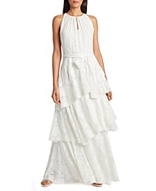 Tiered Chiffon Gown