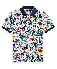 Big Boys Polo Bear Mesh Polo Shirt