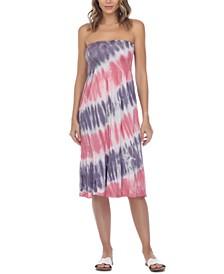 Tie-Dye Convertible Tube Dress Swim Cover-Up