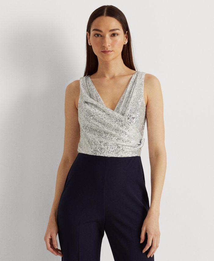 Lauren Ralph Lauren Sequined Crepe Jumpsuit & Reviews - Pants & Capris - Women - Macy's