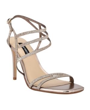 Nine West High heels WOMEN'S ZANA STRAPPY EVENING STILETTO DRESS SANDALS WOMEN'S SHOES
