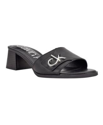 Women's Amber Logo Block Heel Dress Sandals