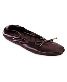 Women's Memory Foam Sloan Printed Ballerina Slippers