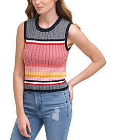 Cotton Stars and Stripes Sweater Tank