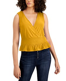 Smocked-Hem Tank, Created for Macy's