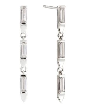 Baguette Linear Earring