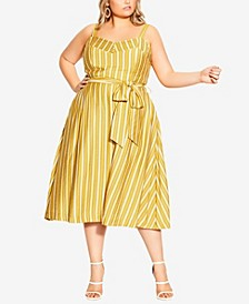 Plus Size Sun Stripe Dress