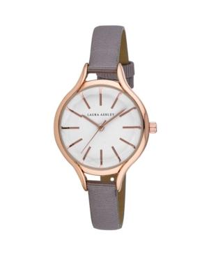 Women's Gray Grosgrain Strap Watch 32mm