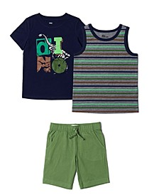 Toddler Boys 3 Piece Short Set
