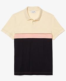 Men's Regular-Fit Colorblocked Piqué Polo Shirt