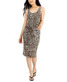 Cheetah-Print Sleeveless Bodycon Midi Dress, Created for Macy's