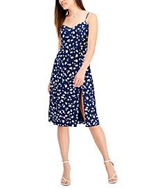 Printed Sleeveless Smocked-Back Midi Dress, Created for Macy's