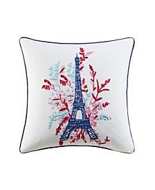 "Eiffel Tower 20"" x 20"" Decorative Pillow"