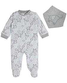 Baby Boys 2-Pc. Printed Cotton Coverall & Banda Set