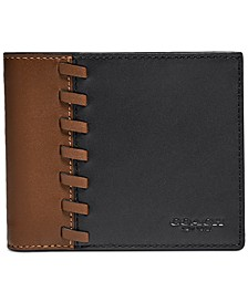 Men's 3-in-1 Colorblocked Leather Wallet