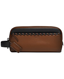 Men's Whipstitched Leather Travel Kit
