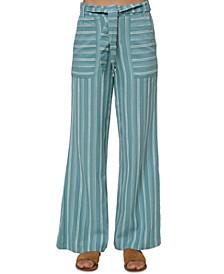 Juniors' Sandoval Tie-Belted Pants