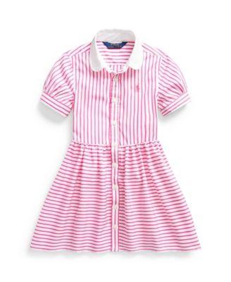 폴로 랄프로렌 Polo Ralph Lauren Little Girls Striped Shirtdress