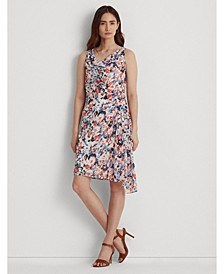 Petite Floral Georgette Sleeveless Dress