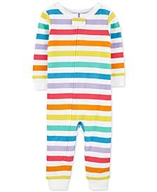 Baby Boys and Girls Rainbow Footless Pajama
