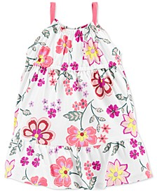 Baby Girls Floral Tiered Jersey Dress