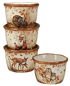 Pine Forest Set of 4 Ice Cream Bowl