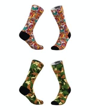 Tribe Socks MEN'S AND WOMEN'S HIPSTER CAT-MOFLAGE SOCKS, SET OF 2