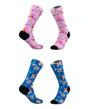 Tribe Socks Socks MEN'S AND WOMEN'S GROOVY CORGI SOCKS, SET OF 2