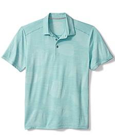 Men's Delray Frond Moisture-Wicking Jacquard Polo Shirt