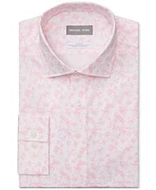 Men's Slim-Fit Print Performance Dress Shirt
