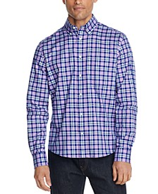 Men's Plaid Button-Down Dress Shirt