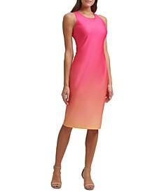 Ombré Ponté-Knit Midi Dress