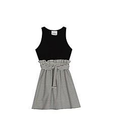 Big Girls Stripe Rib Knit Dress